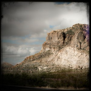 Holga-ized Nikon image of a random mountain in Arizona.  Click to enArizonisize